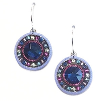 Firefly Earrings- La Dolce Vita Round -Bermuda Blue