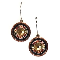 Firefly Earrings- La Dolce Vita Round -Smoky Topaz