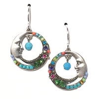 Firefly Earrings-Celestial Moon-Multi Color