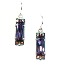 Firefly Earrings-Crystal-Tanzanite Color