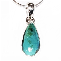 Sterling Silver Pendant/Necklace- Turquoise