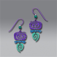 Adajio Earrings - Purple Blue Green Niobium