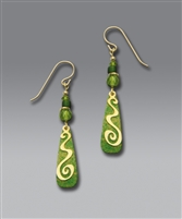 Adajio Earrings-Multi Green Spiral