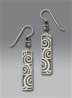 Adajio Earrings- Long Polished Column Filigree
