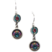 Firefly Earrings-Multi Color Double Circle
