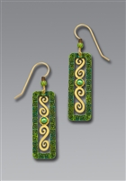 Adajio Earrings- Green Open Column