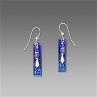 Adajio Earrings -  Blue Violet Aztec Bird Motif