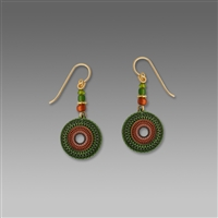 Adajio Earrings - Olive & Copper Etched