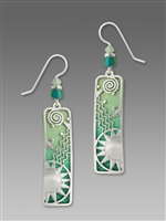 Adajio Earrings - Shiny Silver 'Sunrise' Overlay