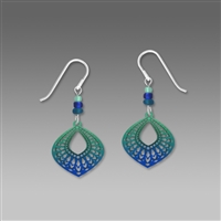Adajio Earrings - Cobalt & Teal 'Moroccan' Teardrop Filigree