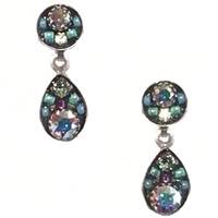 Firefly Earrings-Sparkling Drop Posts-Crystal Aurora Borealis