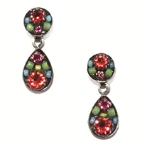 Firefly Earrings-Sparkling Drop Post-Multi Color