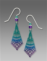 Adajio Earrings - Deep Turquoise & Violet Persian Detail Drop