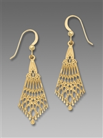 Adajio Earrings- Polished Filigree Necktie
