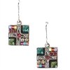 Firefly Earrings-Geometric Small Square-Multi Color