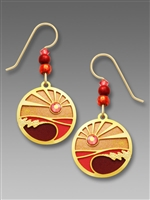 Adajio Earrings - Sunset Over Waves Disk