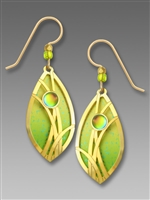 Adajio Earrings-Vibrant Lime Ombré Almond Shape