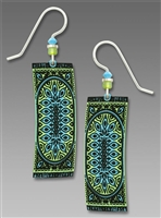 Adajio Earrings - Yellow, Green & Sky Blue Persian Rug