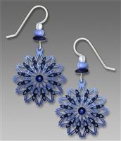 Adajio Earrings - Dark & Light Blue Mandala