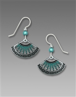 Adajio Earrings - Silver & Turquoise Fan
