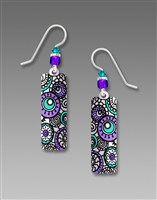 Adajio Earrings - White Column with Lavender Circles