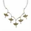 Ginkgo Pearl Necklace