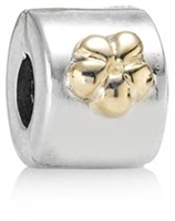 Authentic Pandora Gold Flower Clip Bead-RETIRED