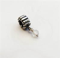 Authentic Pandora Bead -April Birthstone Dangle-White Quartz-RETIRED