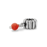 Authentic Pandora Bead -September Birthstone Dangle-Coral-RETIRED