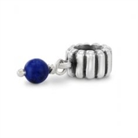 Authentic Pandora Bead -December Birthstone Dangle-Lapis-RETIRED