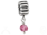 Authentic Pandora Bead -October Birthstone Dangle-Pink Tourmaline-RETIRED