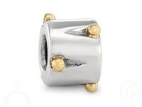 Authentic Pandora Bead-Drum w/14k Gold Accents-RETIRED