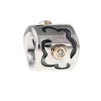 Authentic Pandora Bead-Diamonds w/14k Gold Accents-RETIRED