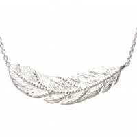 "Sterling Silver Necklace -""Feather"""
