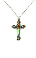 Firefly Petite Mosaic Cross- Multi Color