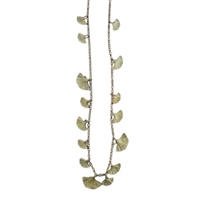 Ginkgo Leaves Long Necklace