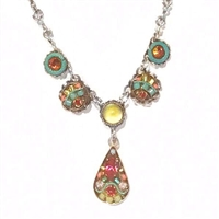 Firefly Necklace- Petite Teardrop- Multi Color