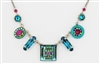 Firefly Necklace-La Dolce Vita Mosaic Crystal -Indicolite Blue