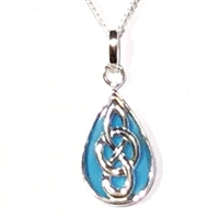 Sterling Silver Celtic Pendant with Turquoise