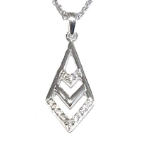 Sterling Silver Pendant- Arrow with Cubic Zirconia
