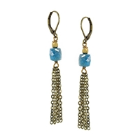 "Apatite Leverback Earrings- ""High Seas"""