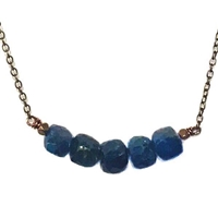 Apatite Necklace- Cubed Arc
