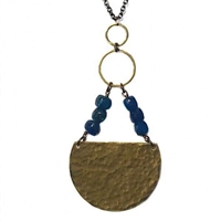 Apatite Necklace- Geometric Circle