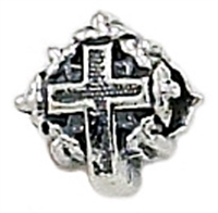 Cross with Leaves Bead