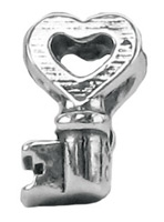 Key with Heart Bead