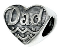"""Dad"" Heart Bead"