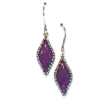 Sterling Silver Purple Turquoise Earring