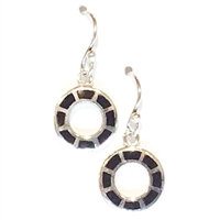 Sterling Silver Earrings- Black Onyx
