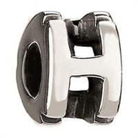 1/2 price- Chamilia Bead -Initial-H-Retired