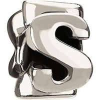 1/2 price- Chamilia Bead -Initial-S-Retired